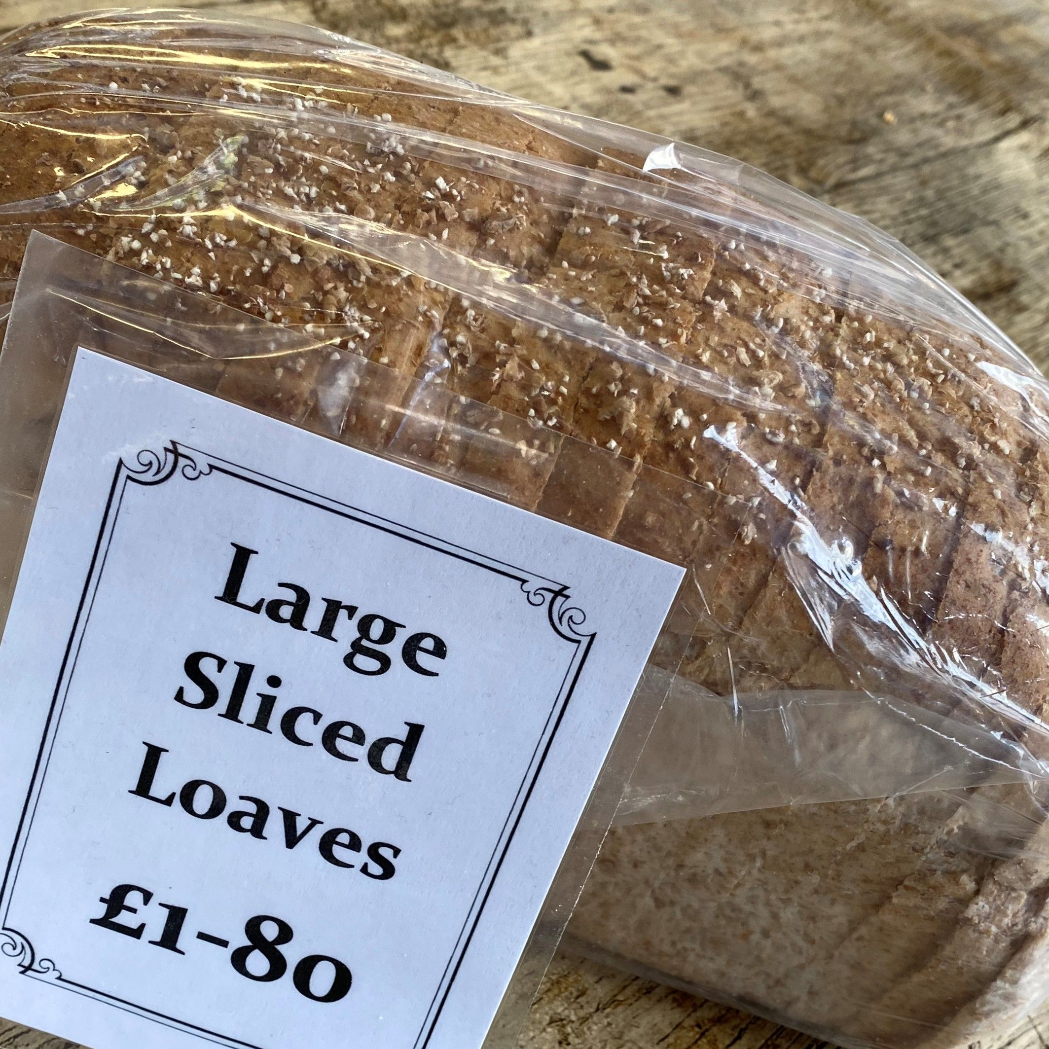 Large sliced wholemeal - £1.80