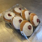 Small iced cherry Bakewell (pack of 6) - £2.50