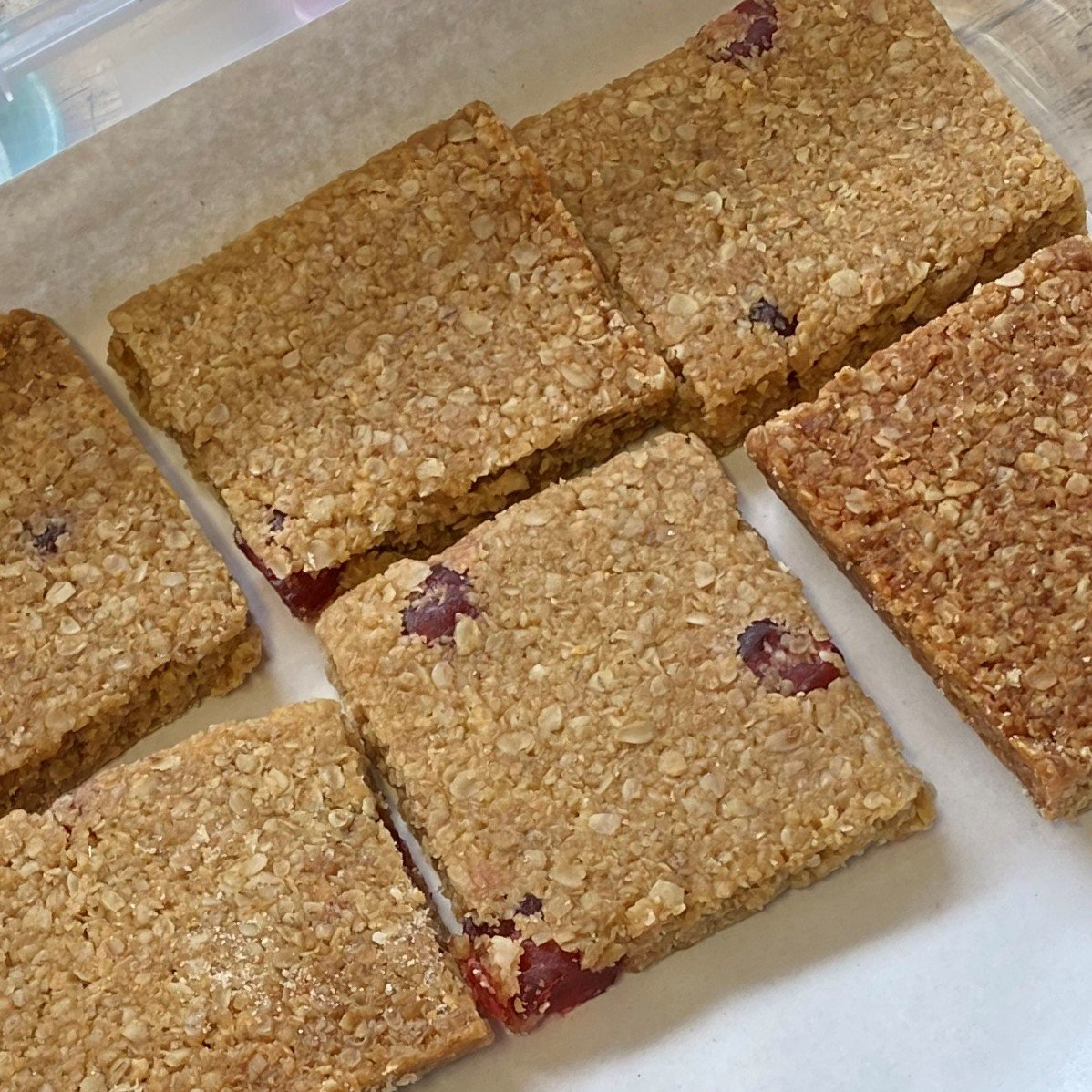 Cherry and coconut flapjack - £1.35